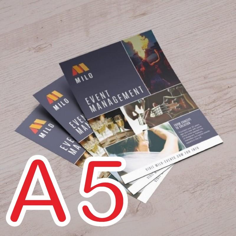 A5 專業彩色雙面宣傳單印刷 157G