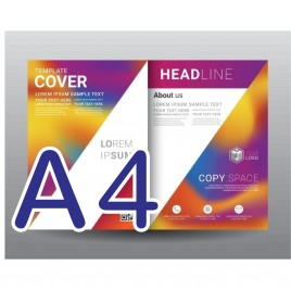 A4 專業彩色雙面宣傳單印刷 157G